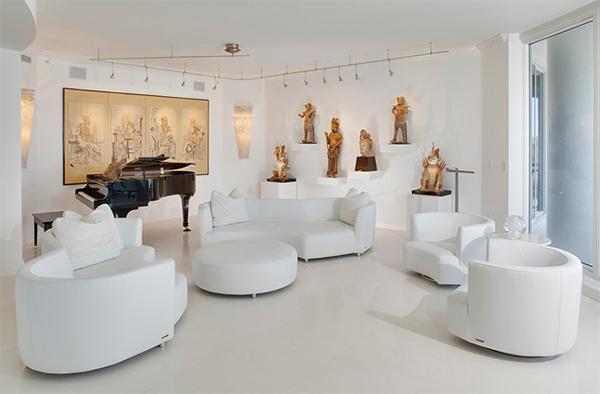white living area