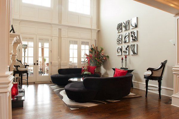 Superb Corner Black Seating