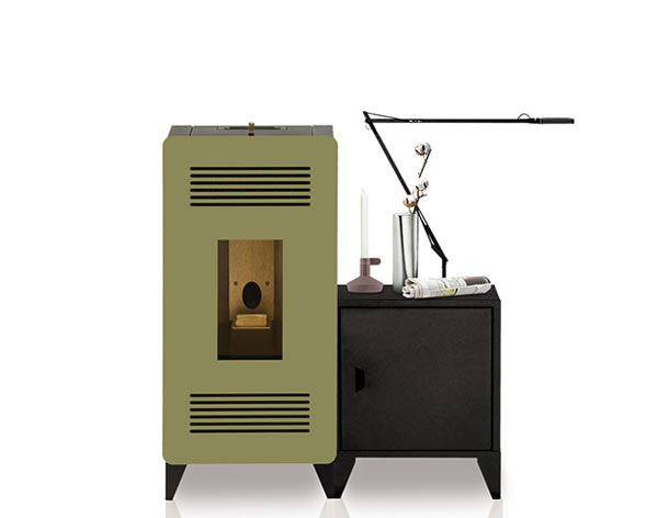 stove with cabinet