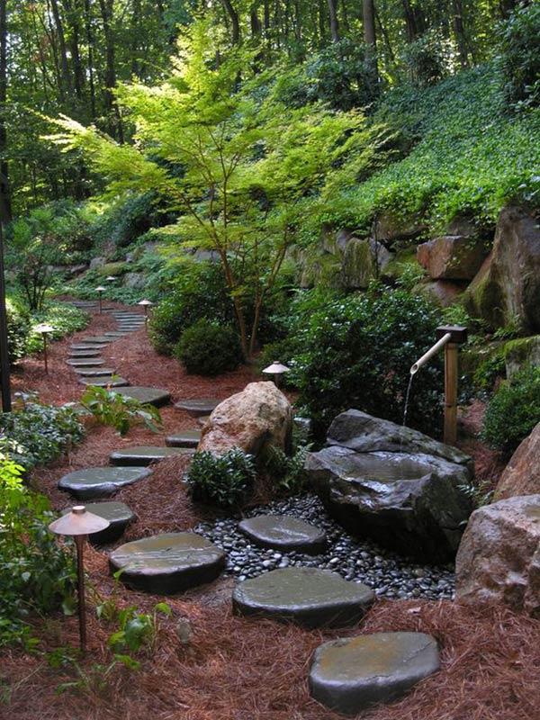 Asian-inspired garden