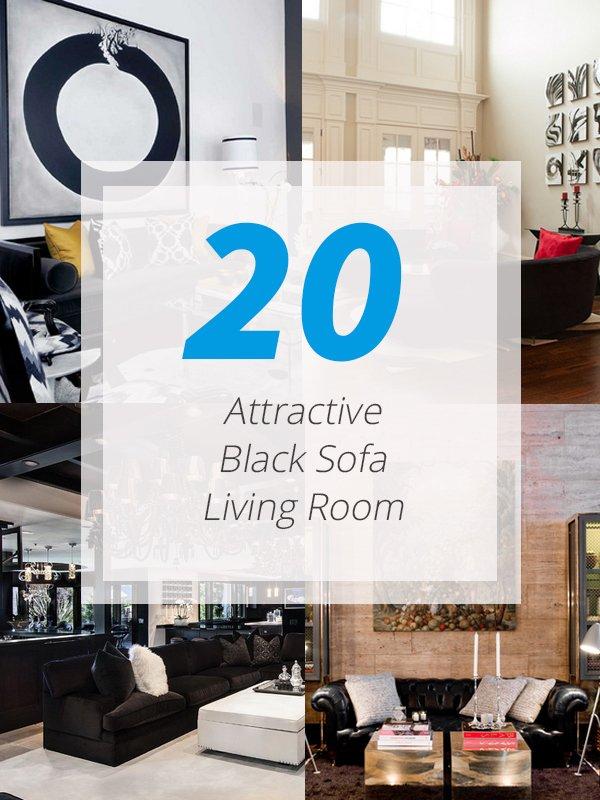 Black Sofa Livingroom