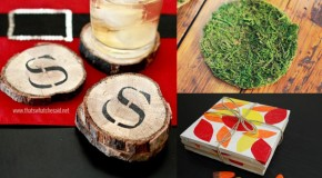 20 DIY Coasters to Add a Creative Twist to Rest Your Beverage Glasses