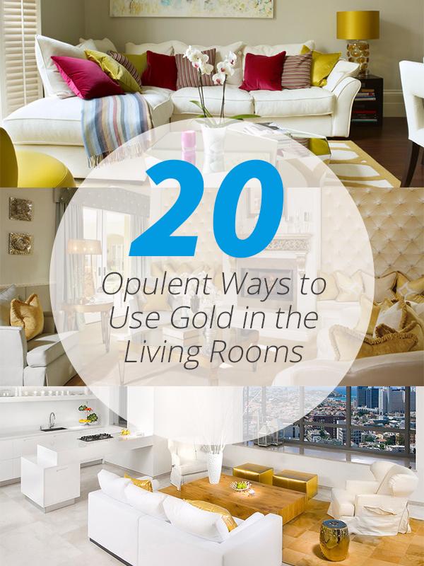 gold accents livingroom