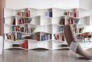 Curvy and Wavy ONDA Bookcases for Minimalist Yet Stylish Shelving