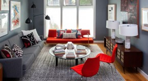 22 Beautiful Red Sofas in the Living Room