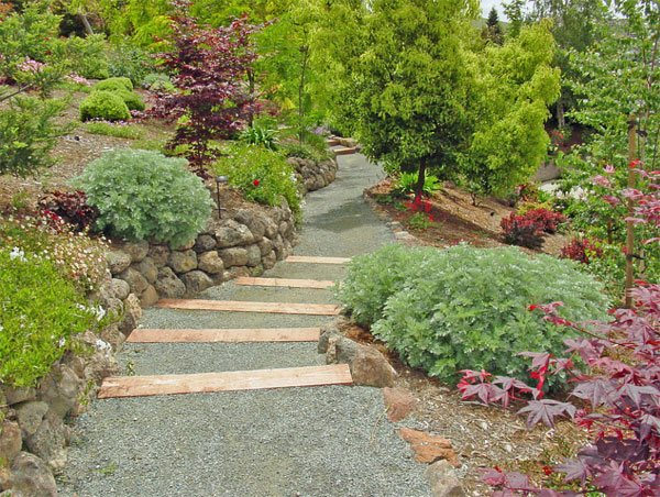 Crushed Granite Mulch : Decorative ideas of landscaping with gravel home