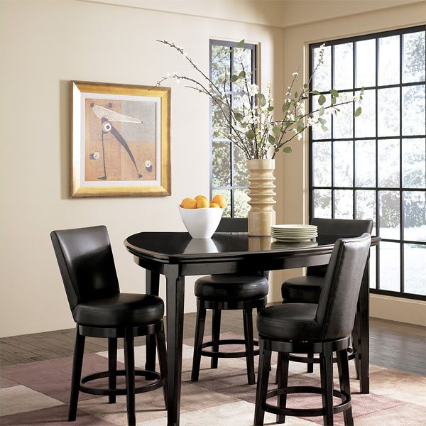 10. Emory Triangle Dining Set - 20 Softly-Shaped Curves Of Triangular Dining Tables Home Design