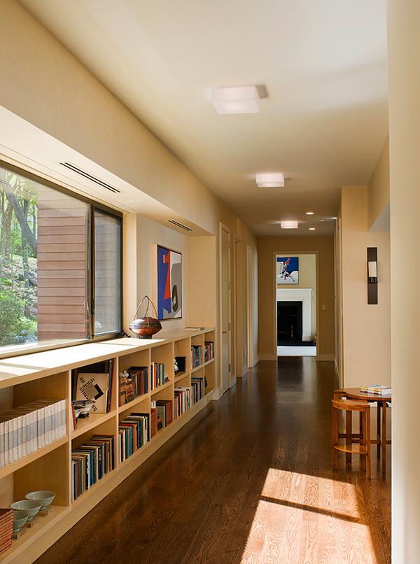 wooden low bookshelf