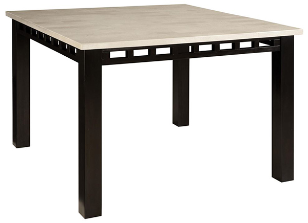 Gateway Counter Height Tables with Marble Top and Ladder Motif