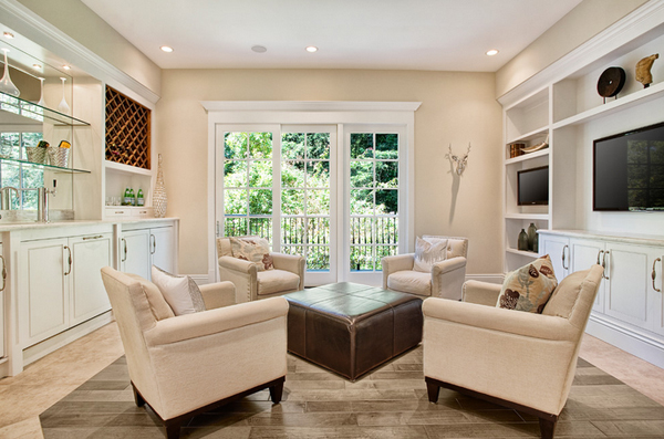 Neutral-colored living room