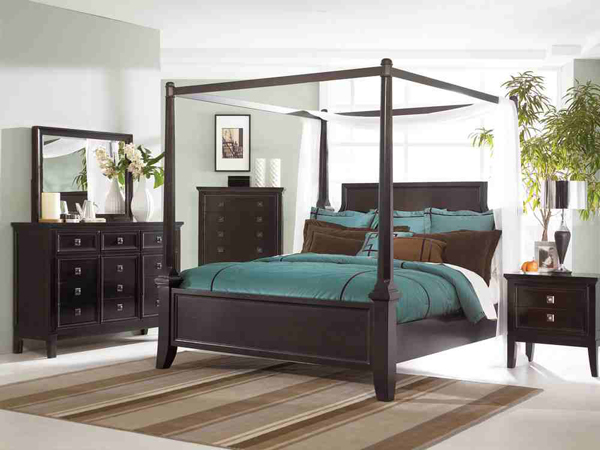 14 Four Poster Canopy Bedroom Set