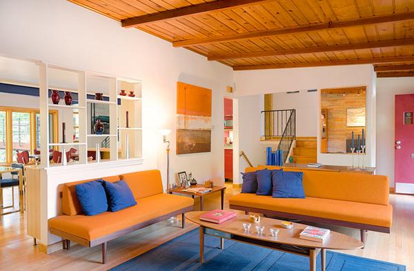 Living Room Ideas Orange Sofa 23 fruity orange sofa living room | home design lover