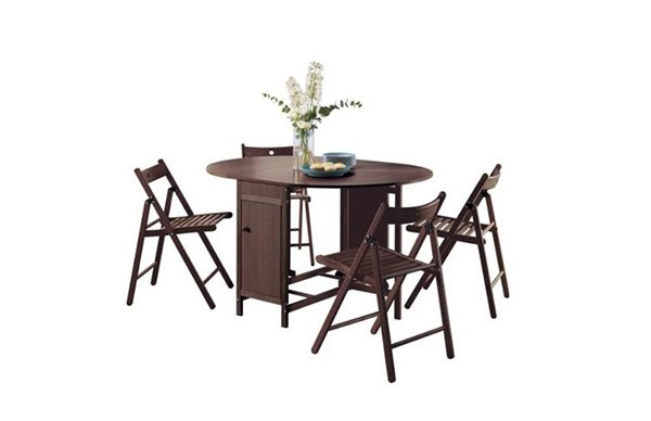 Butterfly Set Oval Dining Table and 4 Chairs
