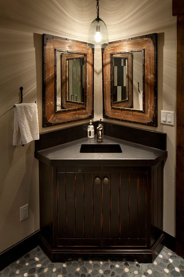 26 impressive ideas of rustic bathroom vanity home for Bathroom vanity designs images