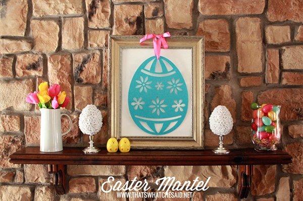 Simple Easter Mantel