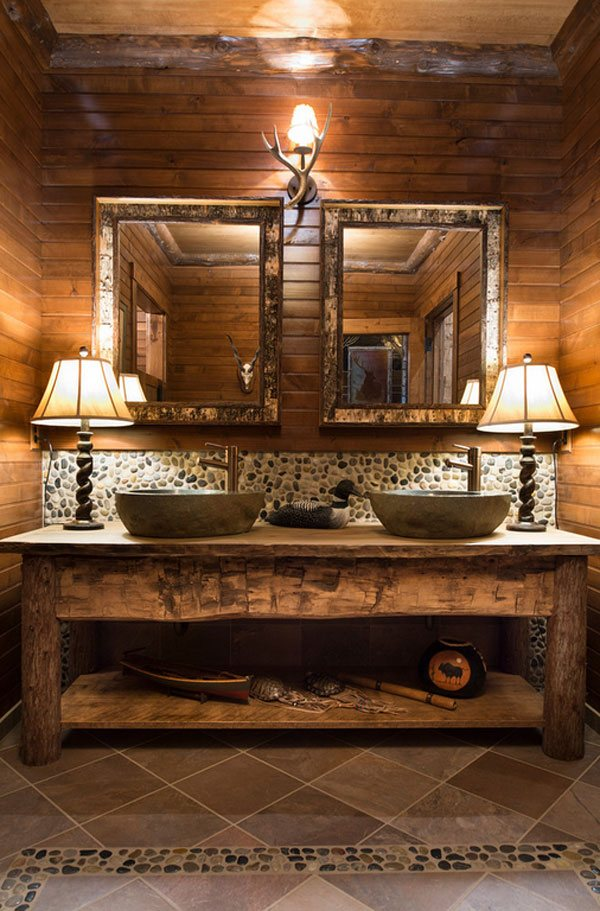 26 Impressive Ideas of Rustic Bathroom Vanity | Home ...