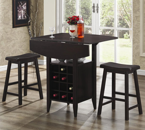 Well-Designed Pub Tables with Wine Storage  Home Design Lover