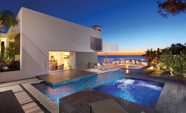 beautiful modern pool