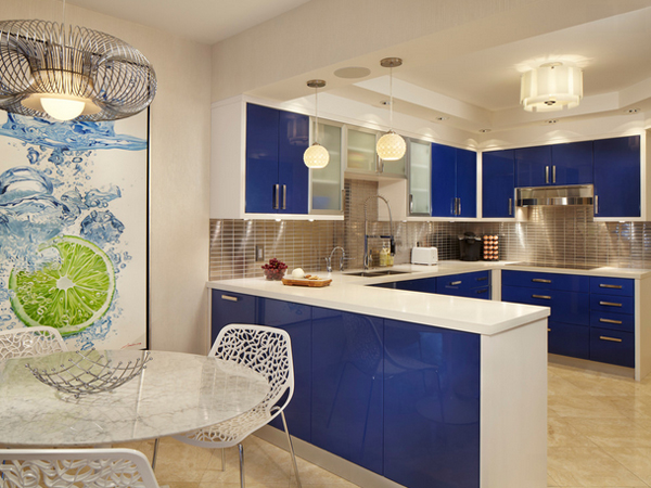 silver kitchen accents