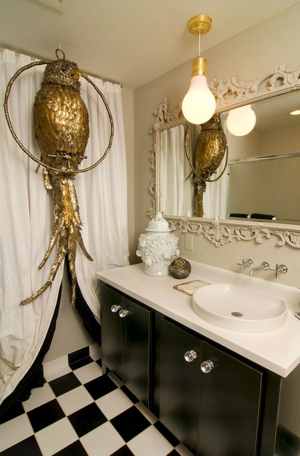 Big Owl Bathroom Wall Ideas