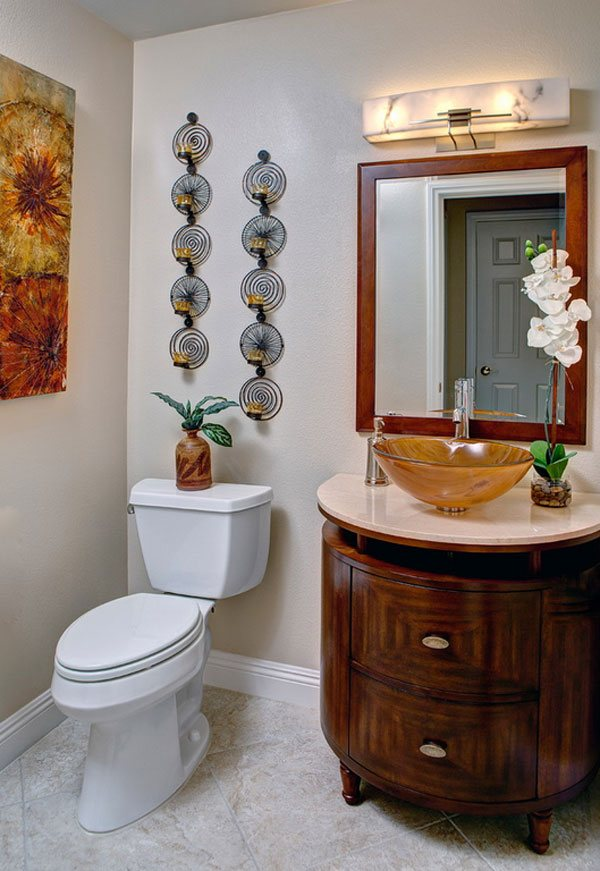 candle holder bathroom decor ideas