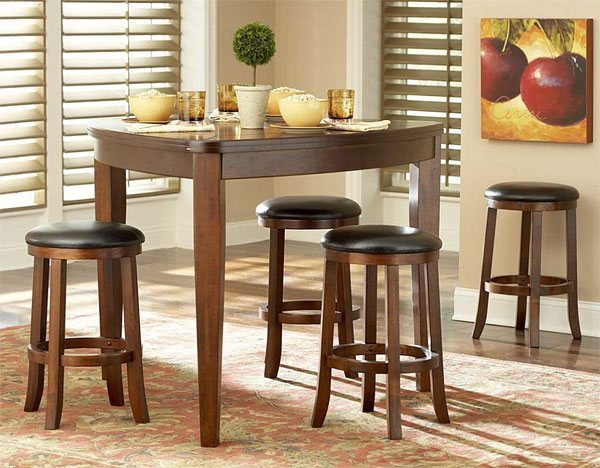 counter height - 20 Softly-Shaped Curves Of Triangular Dining Tables Home Design