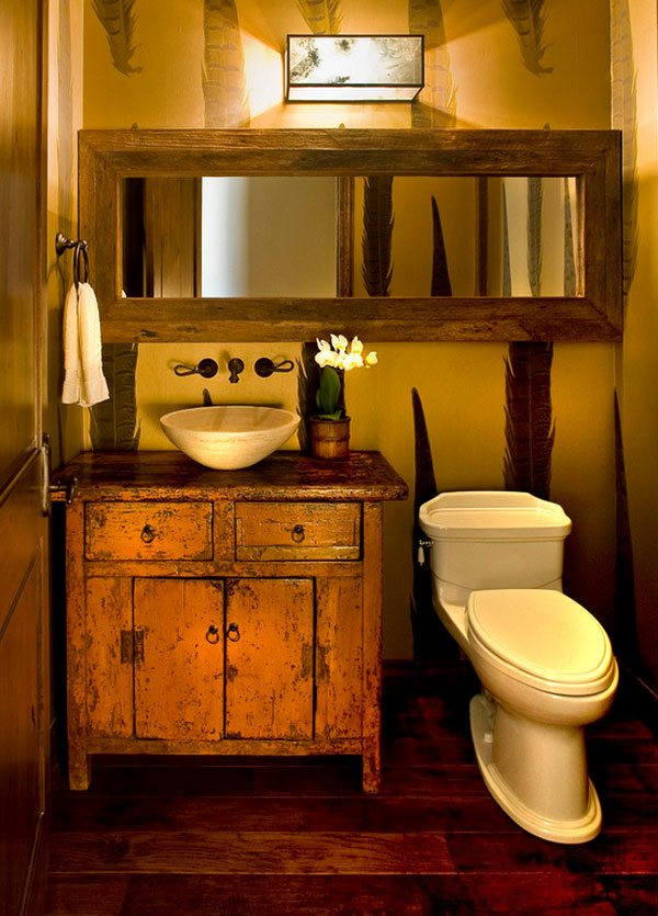 26 impressive ideas of rustic bathroom vanity home for Small rustic bathroom designs