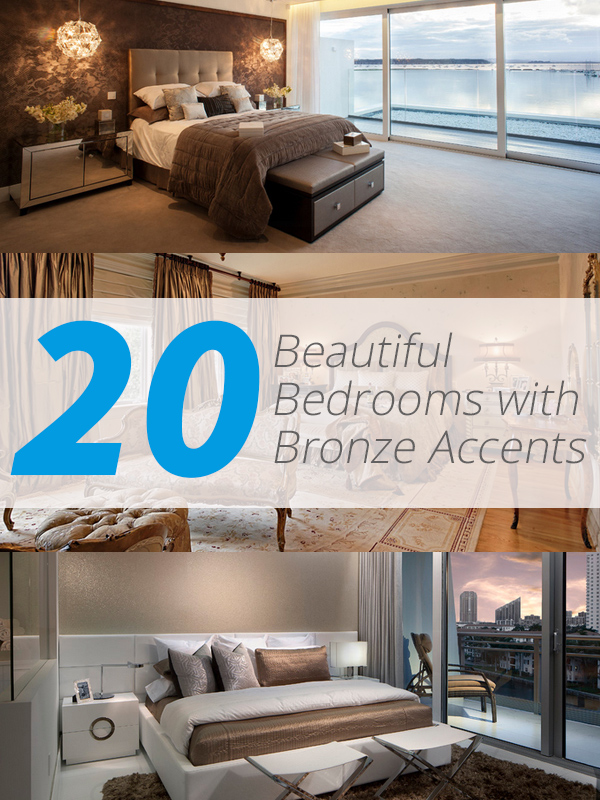 20 Beautiful Bedrooms With Bronze Accents Home Design Lover