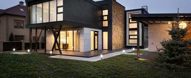 Interaction of Nature in the Interior and Exterior of the Buddy's House in Ukraine
