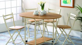 20 Drop Leaf Table with Folding Chairs