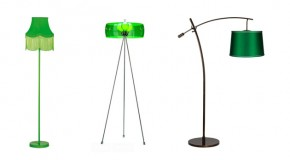 25 Refreshing Designs of Green Floor Lamp