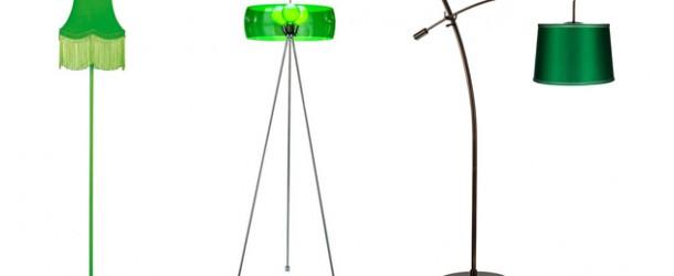 25 Refreshing Designs of Green Floor Lamp