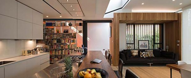 House of Books in England Features a Five Level Bookcase
