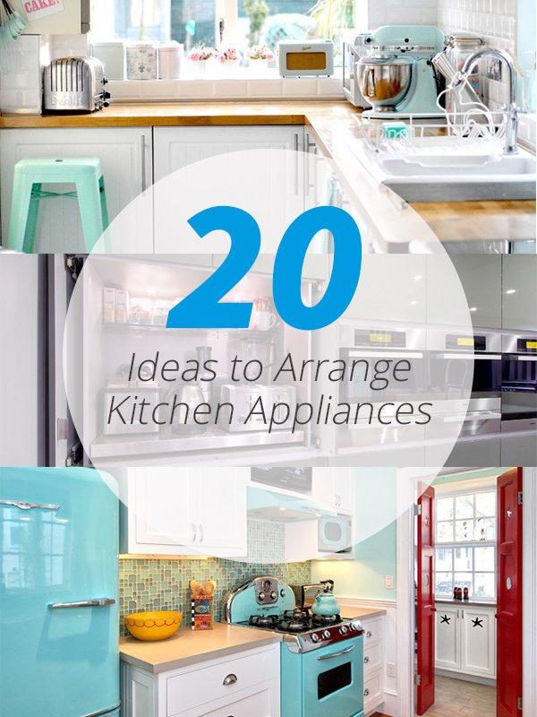 kitchen appliances arrangement
