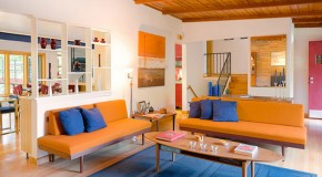 23 Fruity Orange Sofa Living Room