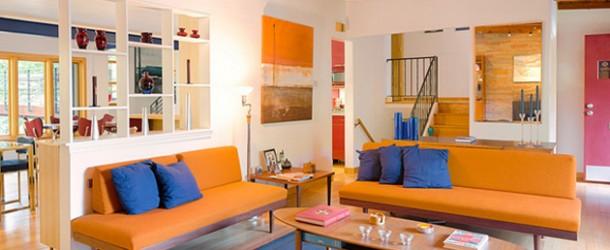 23 Fruity Orange Sofa Living Room