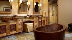 rustic bath vanity