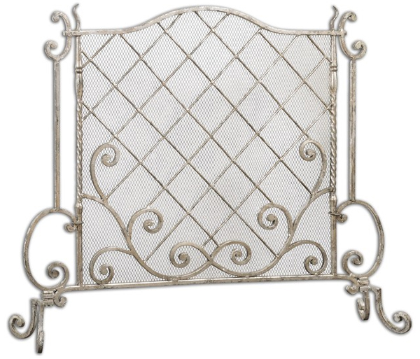 Acasia Silver1 - 20 Gorgeous Home Decors: Contemporary Fireplace Screens Home