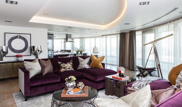 purple sofa designs