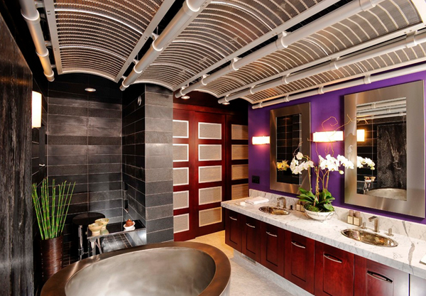 20 gorgeous bathrooms with silver accents | home design lover
