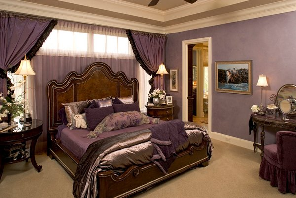 Luxurious Gold Purple Bedsheets
