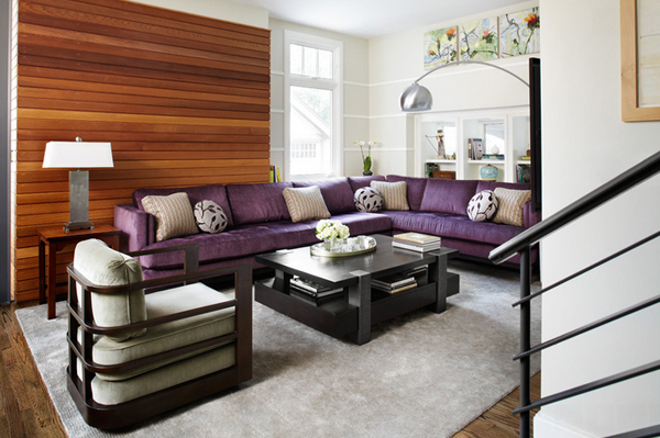 purple sectional