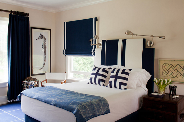 blue bedroom accent
