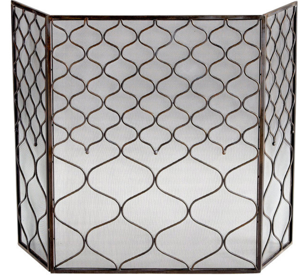 Blakewell Firescreen5 - 20 Gorgeous Home Decors: Contemporary Fireplace Screens Home