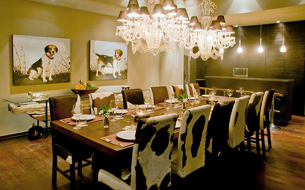 cowhide dining chairs grace 20 lovely dining areas | home design lover