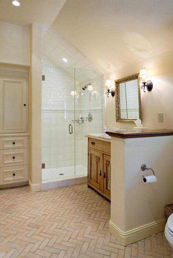 brick tile bathroom flooring ideas