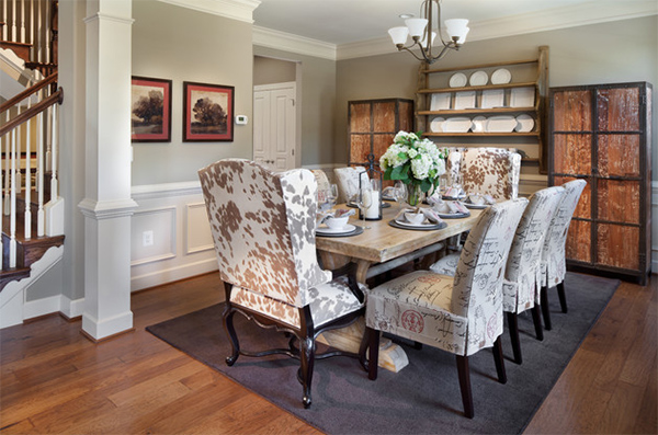 The Sandhurst at Villages of Piedmont at Leopold's Preserve - Cowhide Dining Chairs Grace 20 Lovely Dining Areas Home Design Lover