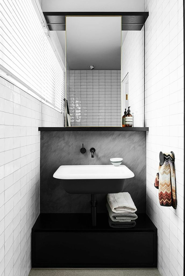 Before after exceptional masculine interior for a for Bathroom decor melbourne