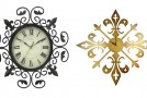 20 French and Antique Fleur de Lis Wall Clocks
