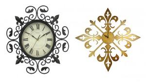 fleur wall clocks